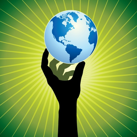 save earth Stock Vector - 17725795