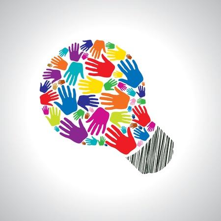 � teamwork: idea lavoro di squadra Vettoriali