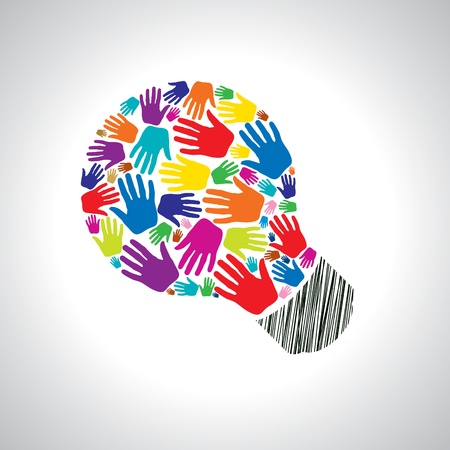 teamwork idea Ilustração Vetorial