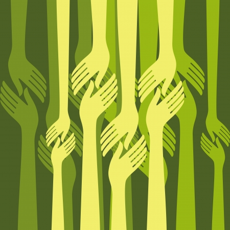 group of hands  Vector