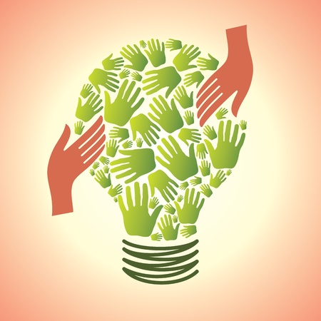 sharpening: save the energy bulb vector