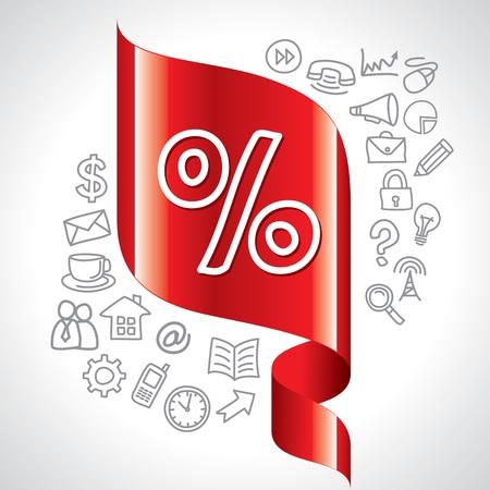 perdidas y ganancias: iconos y botones de navegación porcentaje Vectores