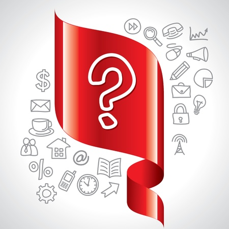 navigation icon and question mark switch Stock Photo - 17721902