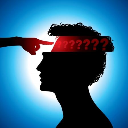 conscious: confused man