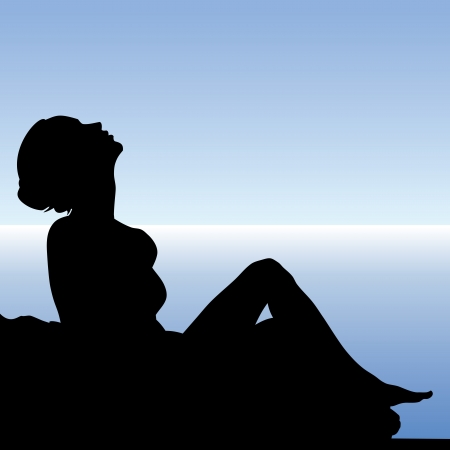 beautiful sexy woman isolated on backlight Stock Photo - 17680798
