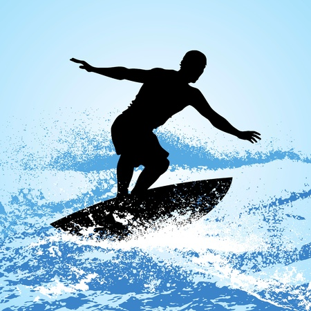 surfer riding a wave photo