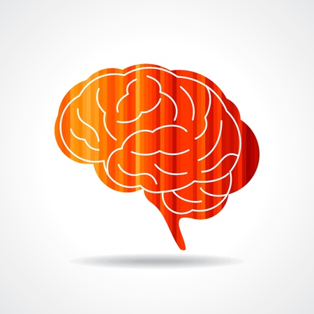 Creative Human brain vector photo