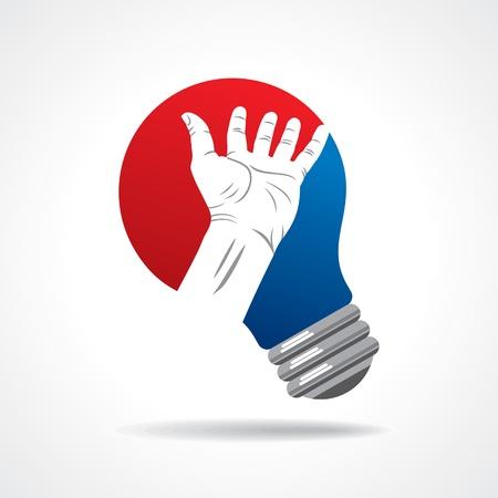 idea bulb with hand Stock Photo - 17699885