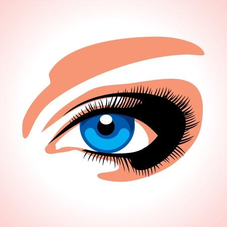 women face stare: beautiful brown woman s eye