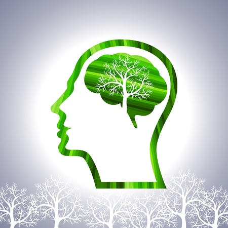 enfermedades mentales: hombre y el vector �rbol