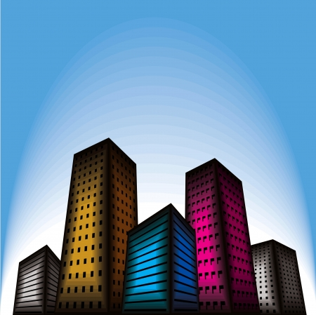tall buildings: building city vector