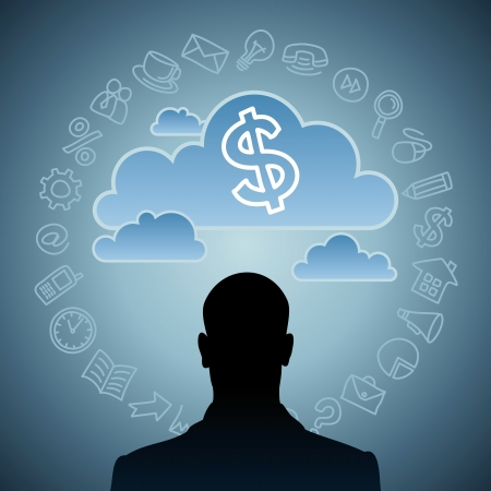 thinking business idea Stock Photo - 17637642