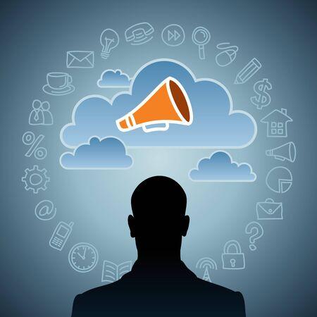 business announcement  creative idea Stock Photo - 17637647