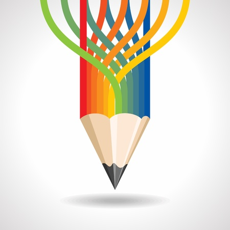 writ: Colorful pencil background Stock Photo