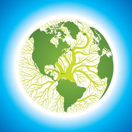 árbol mundial, la idea de medio ambiente Foto de archivo