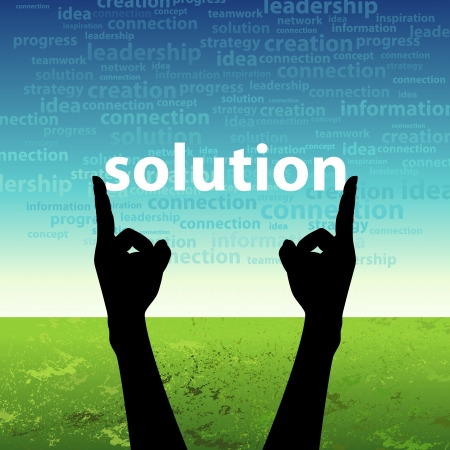 solution in hand Stock Photo - 17637676