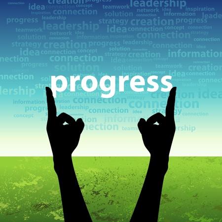 medium group of people: progress in hand