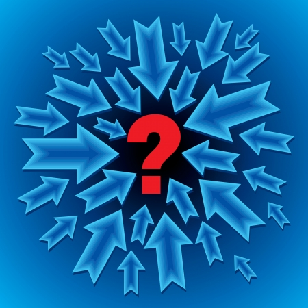 question mark: blauen Business-Konzept mit Fragezeichen Illustration