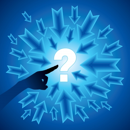 blue business concept with questionmark Stock Vector - 17635145