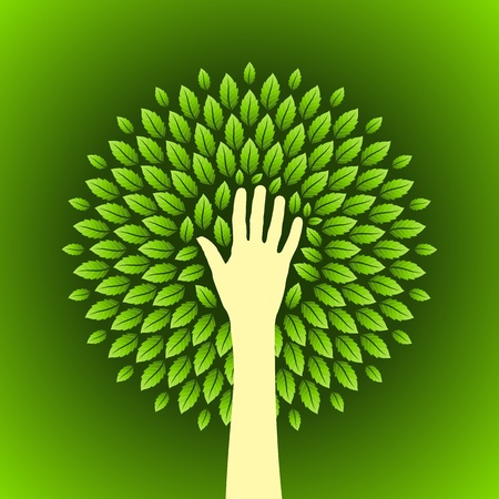 permaculture: save environment  concept