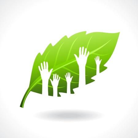 sauver concept d'environnement Vecteurs