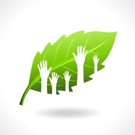 think up: save environment  concept