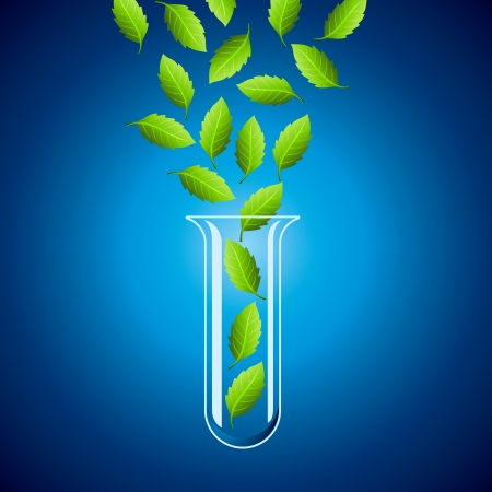 Green sprout from the test tube Vector