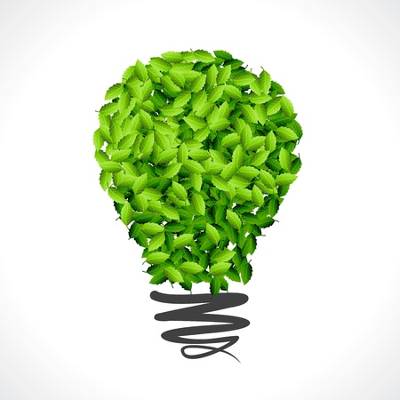 ecologic: save green energy idea for earth Illustration