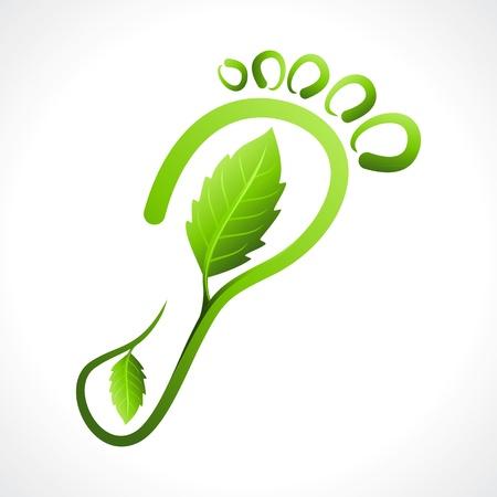 huella pie: Ir Concepto Verde Ecologista