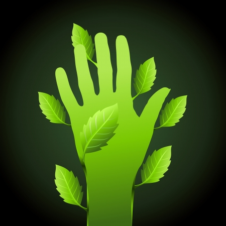 permaculture: save environment idea  Illustration
