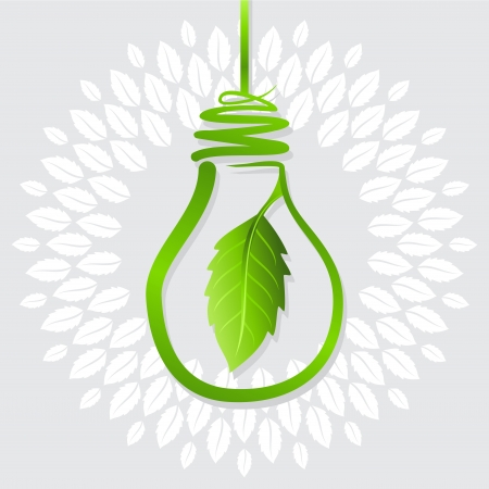 energy save: save green energy idea for earth Illustration