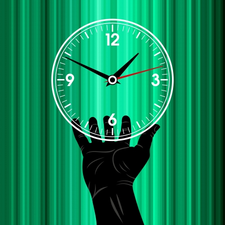 hand hold watch Stock Vector - 17636870