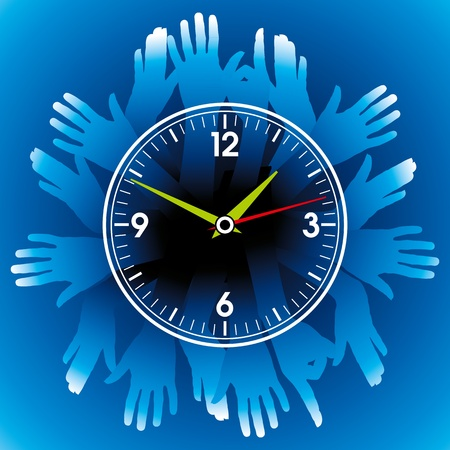hands hold watch Stock Vector - 17635208