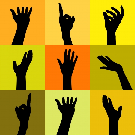 colorful people hands Stock Vector - 17635099