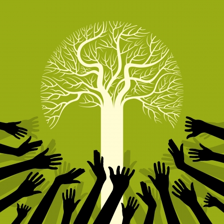 save environment save tree Vector