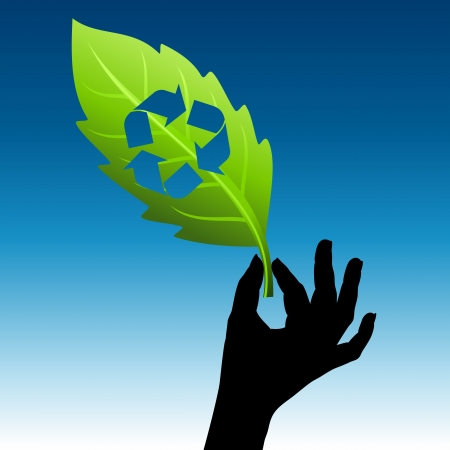 go green icons: save environment idea  Illustration