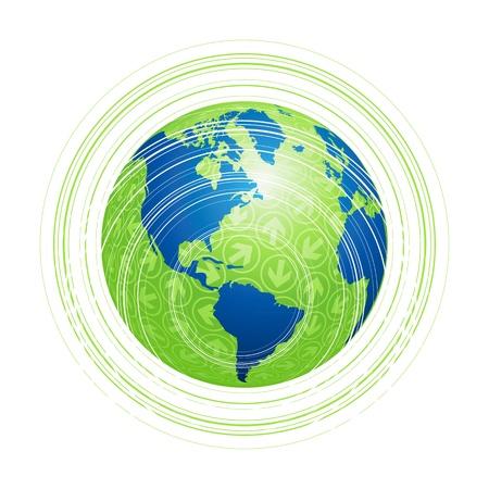 Земной шар карте Схема
