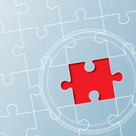 unfinished: jigsaw puzzle, solution concept Illustration
