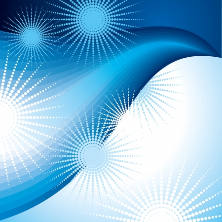 girds: abstract blue wave background vector illustration