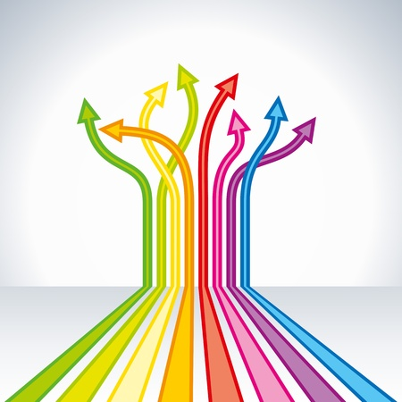 upward: upward colorful arrow  business chart Illustration