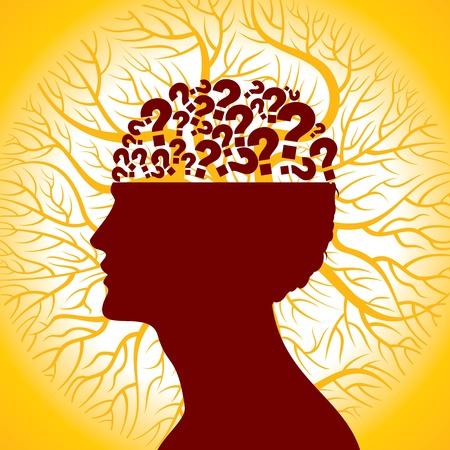 question mark: Fragezeichen im Verstand, denken