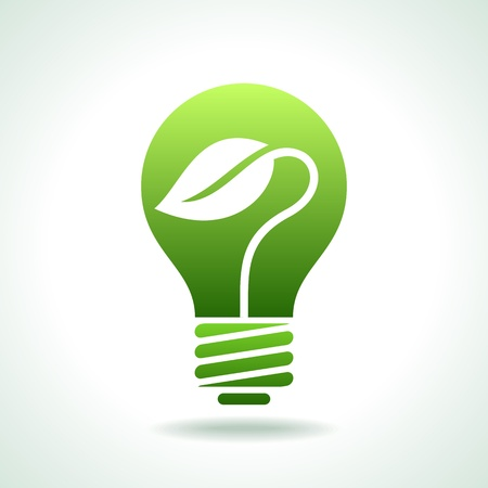 eco concept of idea Vector