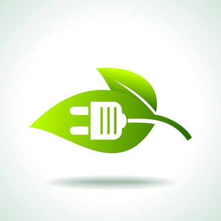 effizient: Macht der gr�ne Energie Illustration