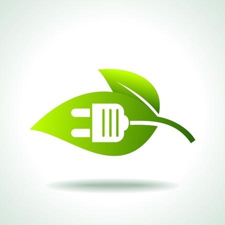 consumo energia: potenza di energia verde Vettoriali