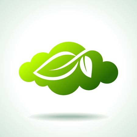 save the environment: green Icon save environment concept