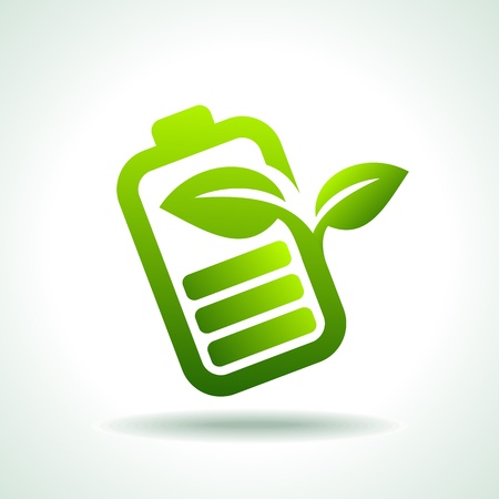 polarity: Vector illustration of modern green icon