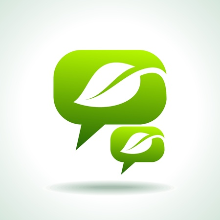environmentally friendly speech Vector