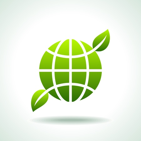 sea green: green Icon save environment concept