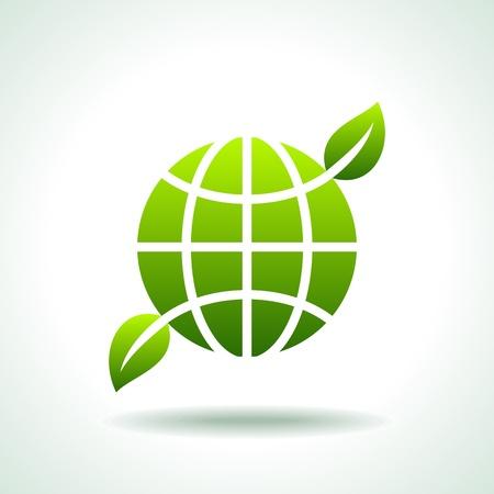 Icône verte concept d'environnement de sauvegarde