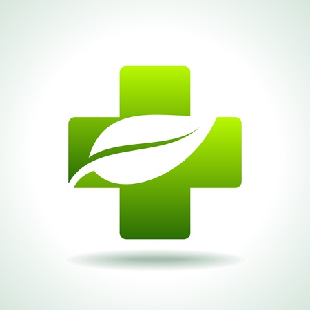 plant medicine: green medical icon